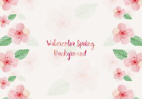 Watercolor Spring Flower Background