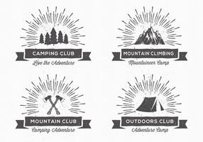 Etiquetas de acampamento do vintage