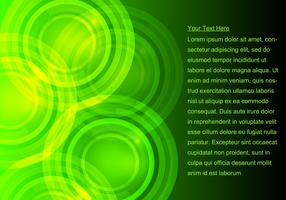 Glowing Green Background vector