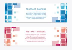 Vector abstracto Banners