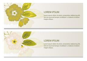 Green Floral Vector Banners