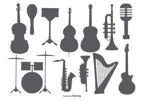 Muziekinstrument Shape Collection