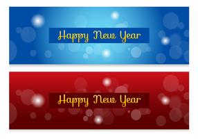 Abstract New Year Banners