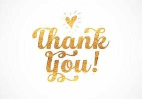 Gold Foil Thank You Lettering