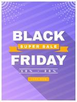 Vetores de postagem de mídia social única Black Friday
