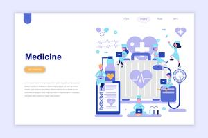 Landing page template of medicine and healthcare