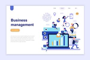 Landing page template of business management modern flat design concept. Learning and people concept. Conceptual flat vector illustration for web page, website and mobile website.