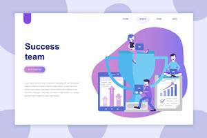 Modern flat design concept of Success Team for website and mobile website. Landing page template. Can use for web banner, infographics, hero images. Vector illustration.