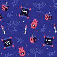 Hanukka Pattern Vector Design
