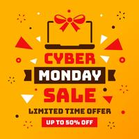 Cyber ​​Monday Sale Vector