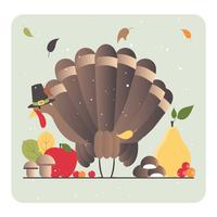 Illustration de Thanksgiving de vecteur
