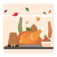 Illustration de vecteur automne éléments
