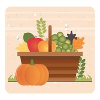 Vektor-Herbst-Element-Illustration