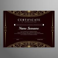 Abstract elegant artistic certificate design background