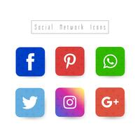 Abstrakt eleganta sociala nätverk ikoner uppsättning