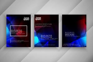 Abstract modern colorful business brochure template set