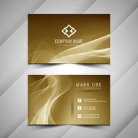 Abstract stylish wavy buisness card template design