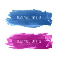 Abstract watercolor stroke design set