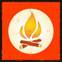 Grunge Fire Symbol