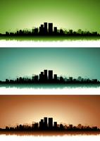 Summer Cityscape Banner Set