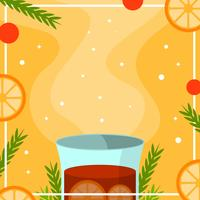 Illustration vectorielle de vin chaud plat