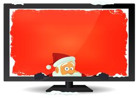 Santa Message Inside TV Background