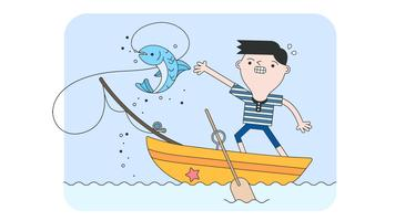 Vecteur de pêche