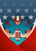 Jugador de fútbol americano deportista vector