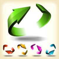 Conjunto de flechas circular abstracto vector