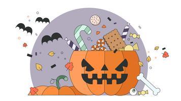 Halloween-Kürbis-Vektor