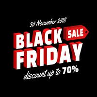 Black Friday-verkoopaffiche Lay-outontwerp