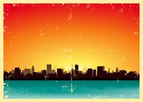 Paisagem urbana de verão Grunge