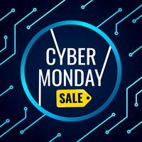Cyber Monday Banner With Technology Background