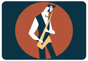 Vecteur de joueur de saxophone