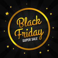 Gold Black Friday Sale Design Template