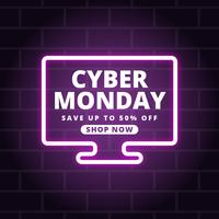 Cyber Monday Social Media Post vector