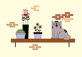 vetor de gato livre
