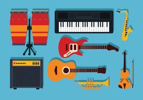 Vecteur de knolling instruments de musique