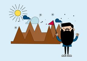 Vector libre de la montaña