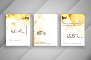 Abstract bright geometric business brochure template design set