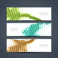 Abstract elegant banners set