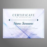 Abstract stylish wavy certificate design background