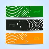 Abstract modern stylish banners set