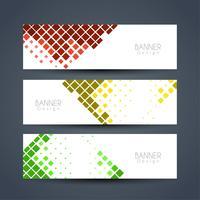 Conjunto de banners elegante abstracto