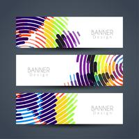 Conjunto de banners moderno abstracto