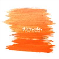 Abstract orange colorful watercolor elegant stroke design