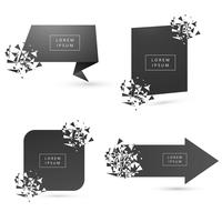 Beautiful Broken modern banner different set vector