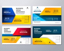Modern stylish buisness brochure card collection colorful templa