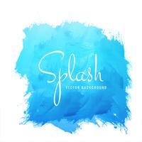 Vector de diseño acuarela splash azul