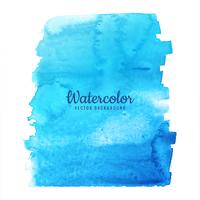 Watercolor blue splash design vector